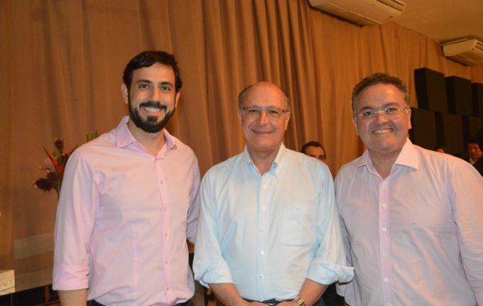Felipe Mussalém, presidente da Associação Comercial do Maranhão e Geraldo Alckmin
